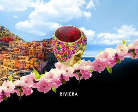 RIVIERA The name and the variety of colors in this collection are associated with the bright Italian and French Riviera, vivid and colorful houses and sun reflections on the water.