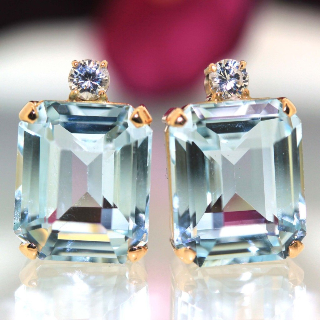 context stud aquamarine diamond aqua large gold earrings white marine p