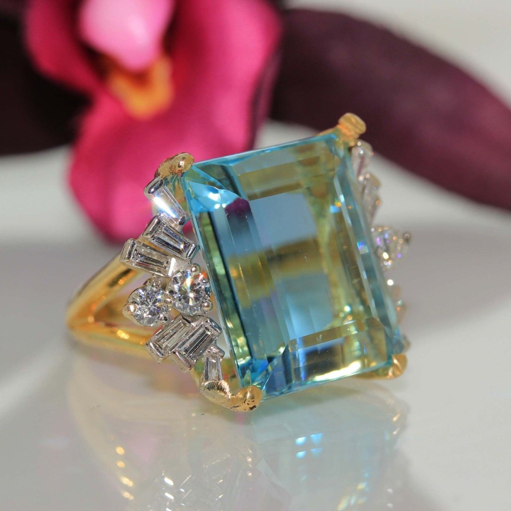 Gorgeous Aquamarine Ring