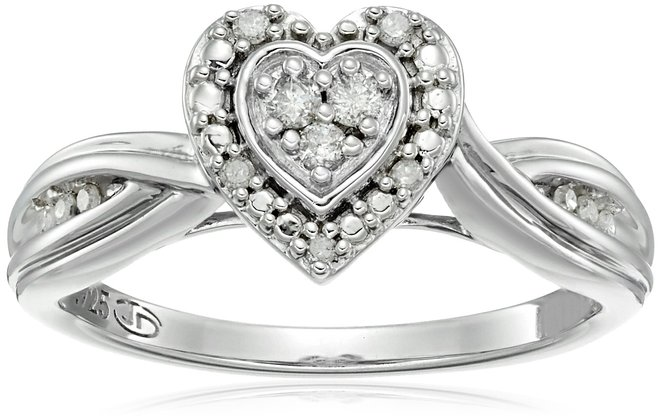 Diamond Friendship Solitaire Promise Ring