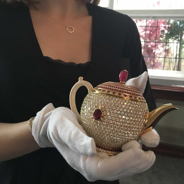 A teapot just for one, the Egoist has been donated to the Chitra Collection of historic and contemporary teapots by owner Nirmal Sethia.