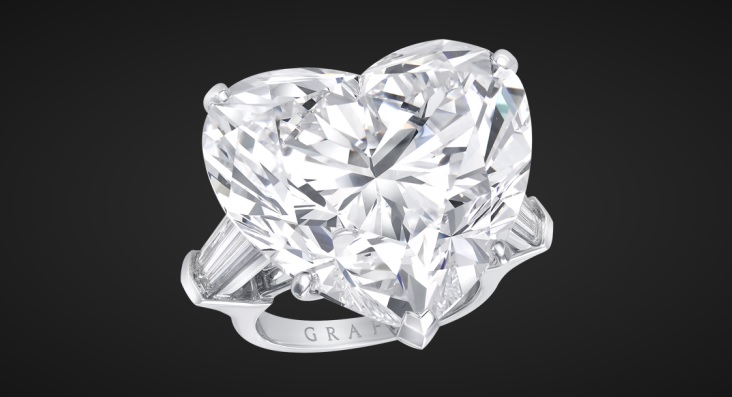 White Heart Shape Diamond Ring by Graff Diamonds
