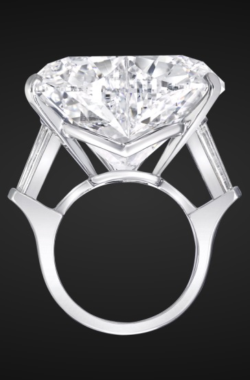 White Heart Shape Diamond Ring