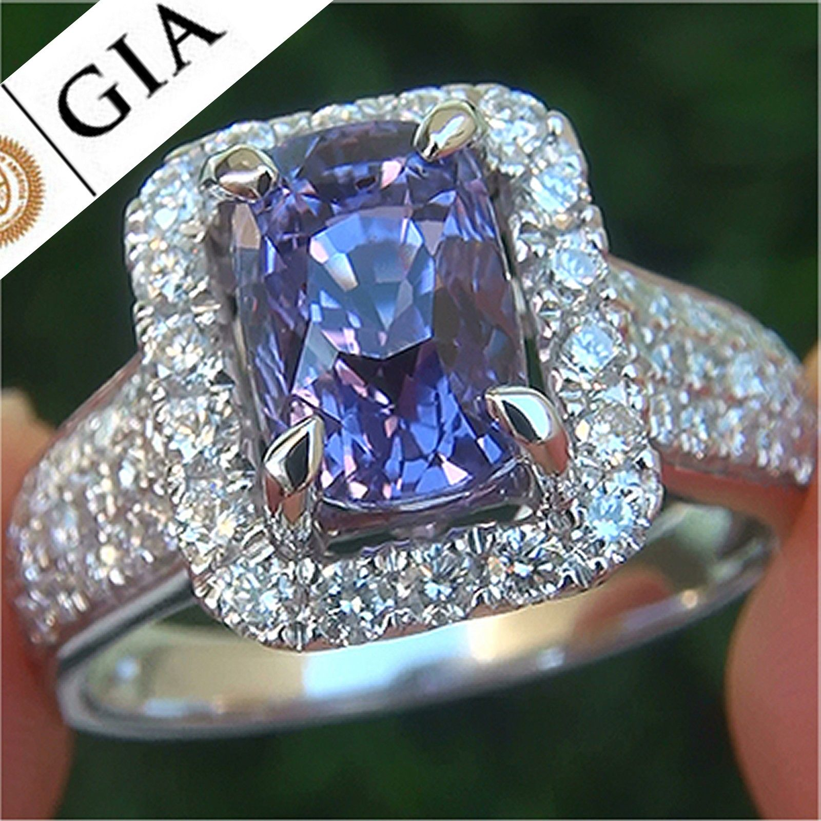 sapphire a diamond gorgeous gia ct unheated vvs color ring change natural gold rings gtrf sphene