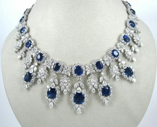 A Spectacular Sapphire and Diamond Necklace