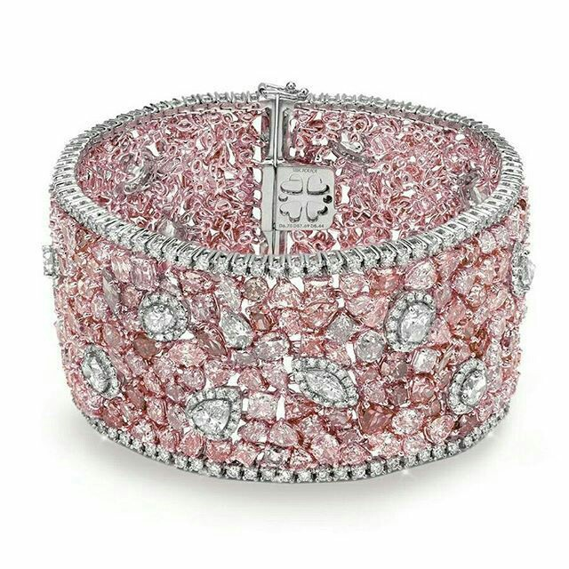 A Gorgeous Pink Diamond And White Diamond Bracelet Eyes