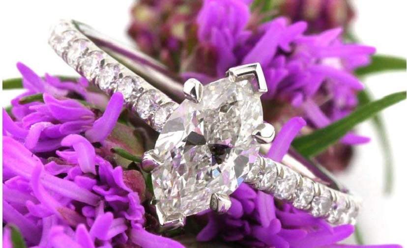 Mark Broumand 1.52ct Marquise Cut Diamond Engagement Ring