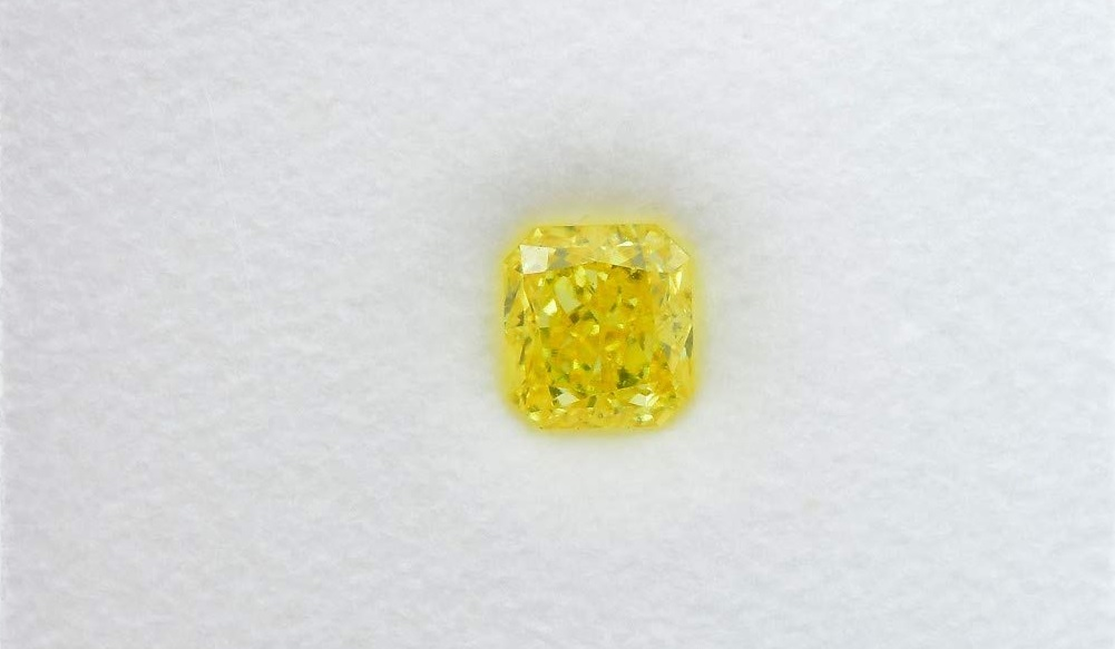 Fancy Vivid Yellow Loose Diamond Natural Color Radiant Cut GIA Cert