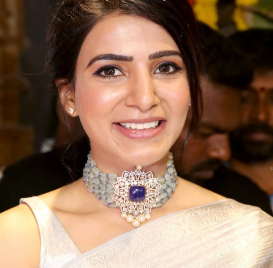 Samantha Akkineni in Akoya Jewels Choker Necklace